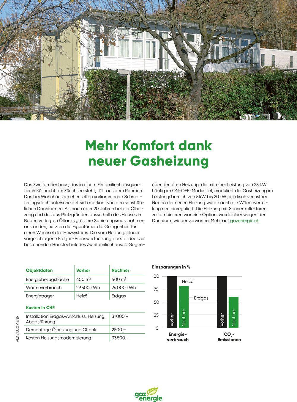 Referenzobjekt - Heizungsersatz ZFH Küsnacht
