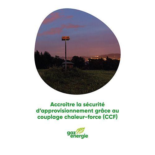 Accroître la sécurité d'approvisionnement grâce au couplage chaleur-force (CCF)