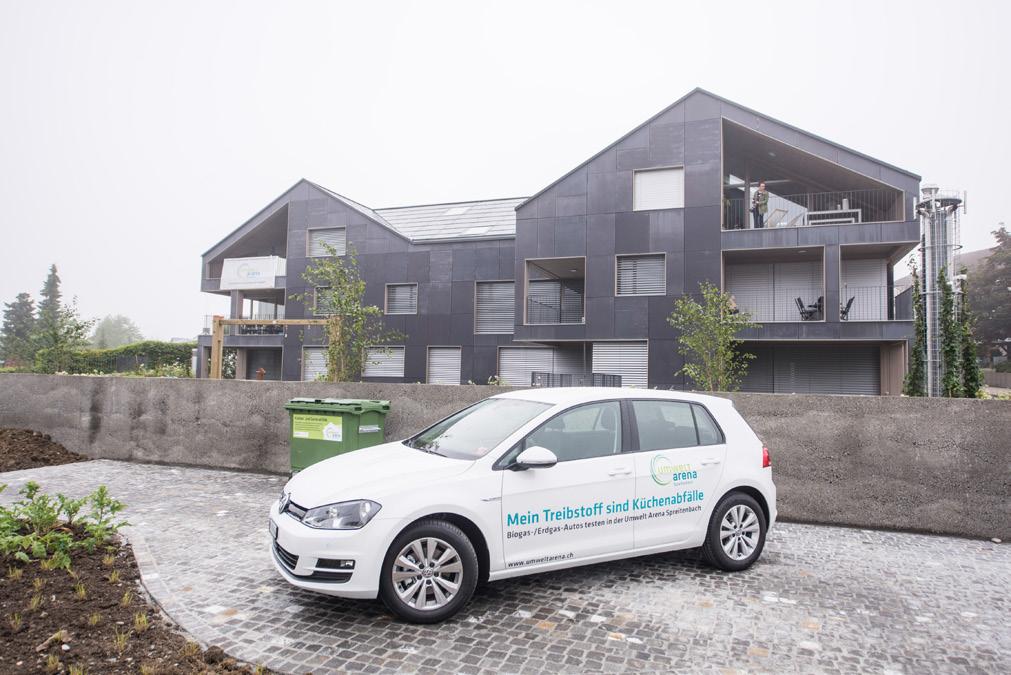 Biogasbetriebenes Fahrzeug