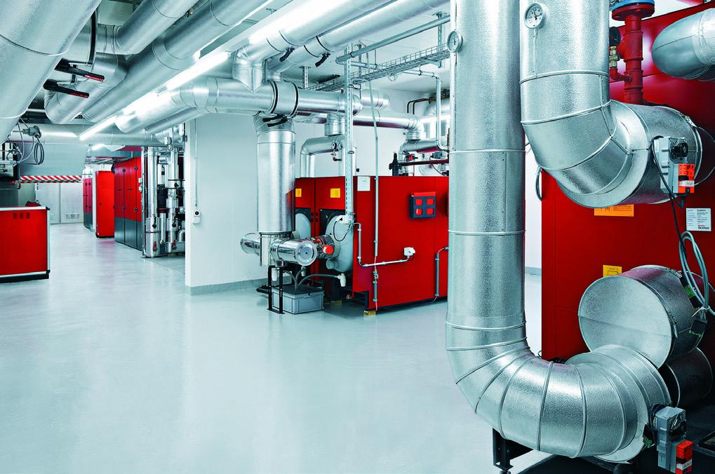 La centrale de chauffage avec un bloc CCF
