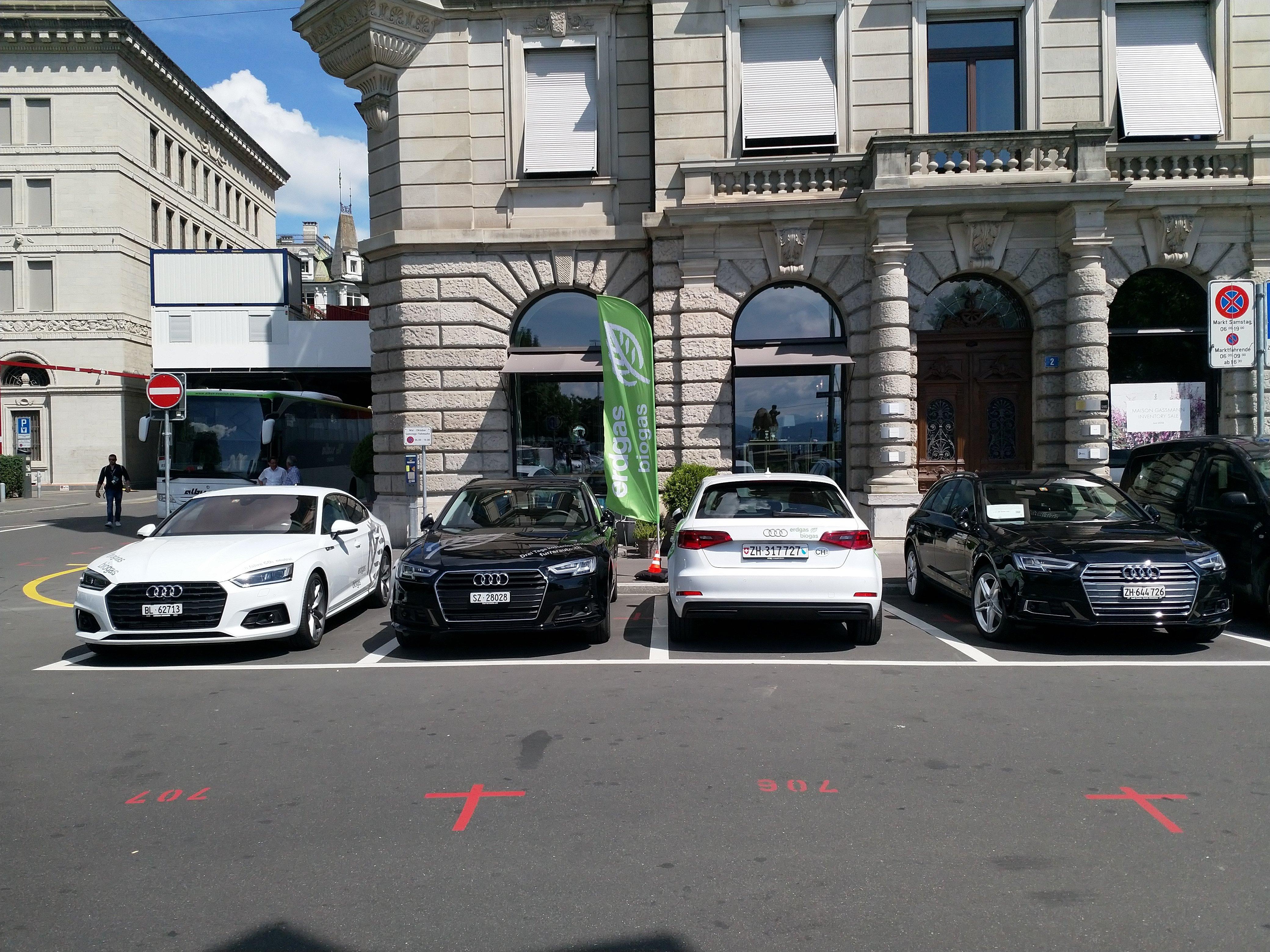 Mit dem Audi A3, A4 und A5 g-tron konnten attraktive Gasfahrzeuge zum Probefahren angeboten werden.