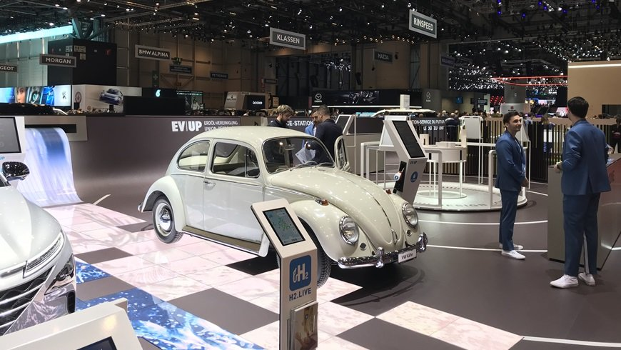 Die Empa am Genfer Autosalon.