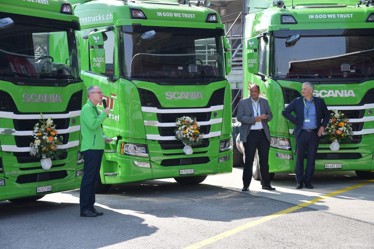 Umweltschonend unterwegs - LNG-Lastwagen