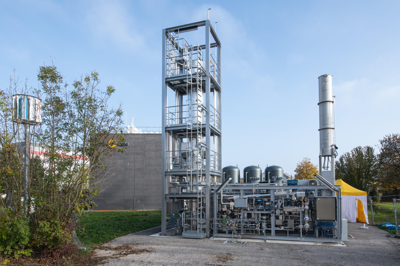 Forschungsanlage auf dem Areal des Hybridwerks in Zuchwil (SO): Archaeen verwandeln Wasserstoff in biologisches Methan.