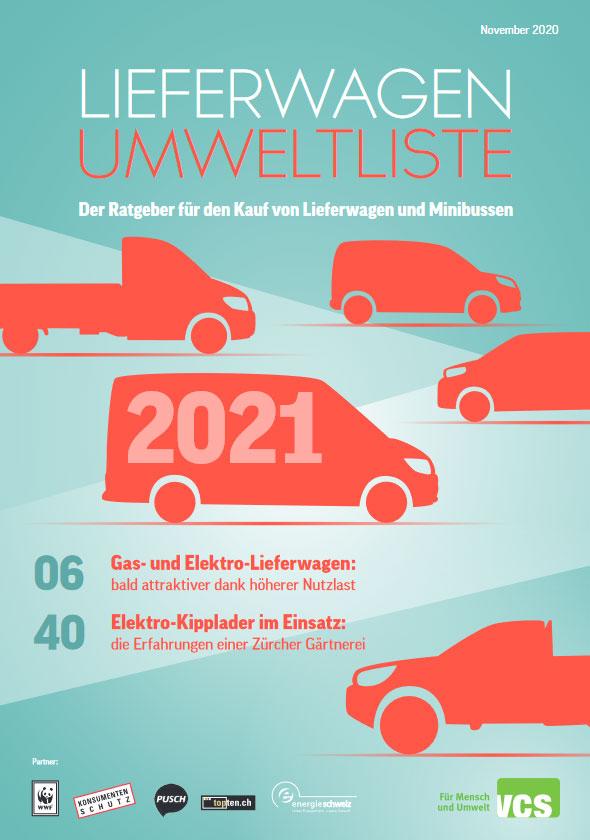 Lieferwagen-Umweltliste